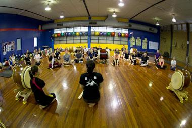 Taikokoro Inc Miyake taiko workshop